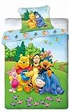 Unbekannt Faro Bettwäsche Winnie The Pooh-Kissen 70 X 80/160 X 200, Kinderzimmer, 02, Baumwolle, Mehrfarben, 200 x 160 cm
