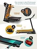 Sportstech F10 Laufband mit Smartphone App Steuerung, Pulsgurt im Wert von 39,90 € inklusive, Bluetooth, 1PS, 10 KM/H, für Geh- und Lauftraining mit 13 Programmen – kompakt klappbar verstaubar - 2