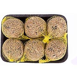 Pfiffikus Erdnuss Meisenknödel mit Netz 6 Stück | Hochwertiges, energiereiches Wildvogelfutter zur Ganzjahresfütterung heimischer Vögel | 100% Made in Germany | Vogelfutter für Futterspender