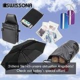 SWISSONA Premium Regenschirm, leicht, winddicht, rostfrei in schwarz | 2 Jahre Zufriedenheitsgarantie | Taschenschirm, Reise-Regenschirm, Outdoor-Regenschirm - 9