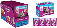 Whiskas Adult (+1 Year) Wet Cat Food, Tuna in Jelly, 12 Pouches (12 x 85g) & Whiskas Adult (+1 Year) Wet C