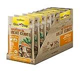 GimDog Superfood Meat Cubes Hühnchen mit Karotte und Spinat | Hundesnack mit hohem Fleischanteil und Mono-Protein | ohne Zuckerzusatz | 8 Beutel (8 x 70 g)