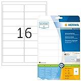 Herma 5075 Étiquettes d'adresse 99,1 x 33,8 Premium A4 400 pièces Blanc