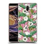 Head Case Designs Offizielle Celandine Barrakuda Pink Wilde Kerle Soft Gel Hülle für Nokia 7 Plus