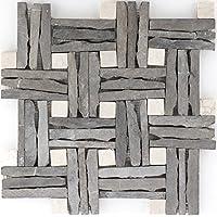 piedra natural mosaico azulejos gris Multiformat pared suelo ducha inodoro Cocina   10alfombrillas   Art: es de oliva _ F