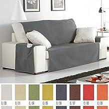 Funda Cubre Sofá Práctica Modelo Helena, Color GRIS (C/06), para 1 Plaza
