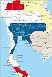 Poster 60 x 90 cm: Thailand mit Flagge von Editors Choice -