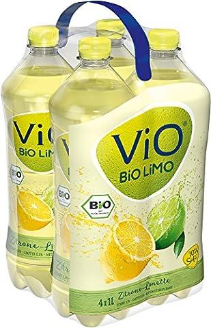 ViO BiO Limo Zitrone-Limette, 4 x 1 l EW Flasche