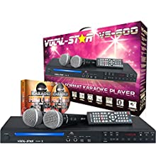 Vocal-Star VS-600 HDMI Karaoke Machine With Bluetooth Including 150 Karaoke Songs & 2 Microphones