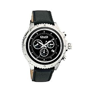 D&G Dolce&Gabbana D&G Sir D&G Special Edition – Reloj cronógrafo de caballero de cuarzo con correa de piel negra (cronómetro) – sumergible a 30 metros
