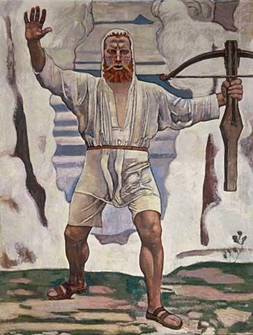 Kunstdruck/Poster: Ferdinand Hodler Wilhelm Tell - hochwertiger Druck, Bild, Kunstposter, 75x100 cm