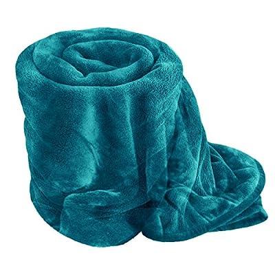 Egypto Fleece Blanket - Extra Soft Fur Brush Fabric, Super Warm Bed Throw, Lightweight Sofa Blanket, Easy Care - low-cost UK light store.