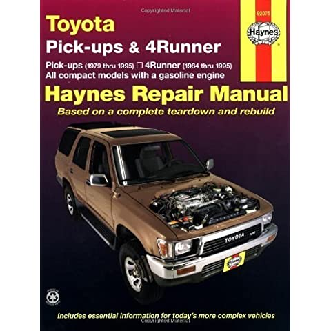 Toyota Pickups and 4-Runner, 1979-1995 (Haynes Manuals) 1st by Haynes, John (1998) Paperback
