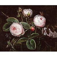 Bentley Global Arts Group - Póster artístico, diseño de rosas rosas, lona, multicolor, 13 x 10