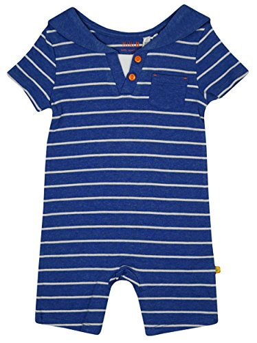 Baby Boys Nautical Stripe Sailor All In One Romper Outfit Blue Sizes From Newborn To 12 Months