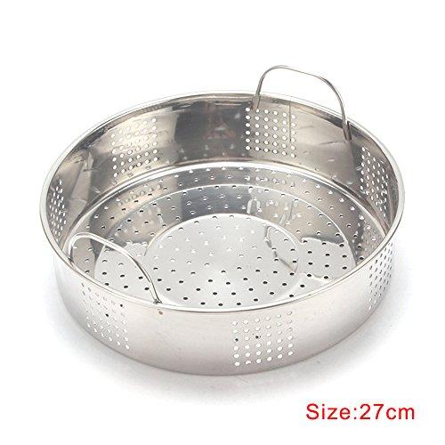 dgyl88 Dampfgarer gedämpft Edelstahl Reiskocher dampfenden Fischgitter Schicht gedämpftem Reis Kochgeschirr Werkzeug gefüllte Brötchen Dampfer Multifunktionale Teller Teller(27 cm)