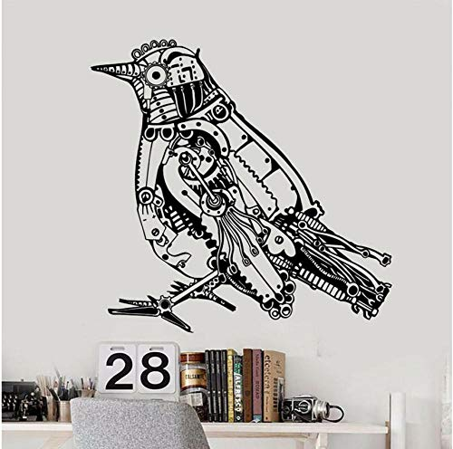 Steampunk Bird Mechanical Art Wall Stickers Vinyl Home Decor Decals Removable Mural Kids Room Decoration 43 * 42cm ()