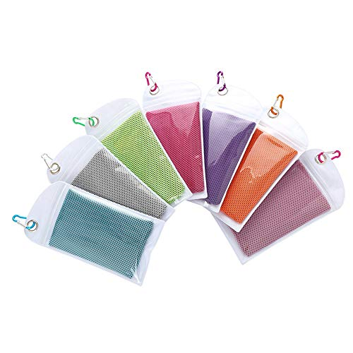 FAN Cool Towel (30X90Cm) Sporthandtuch, Cool Ice Towel, Geeignet für Yoga, Fitness, Wandertuch, Sofort Beruhigend + Tasche, J,30 * 90CM