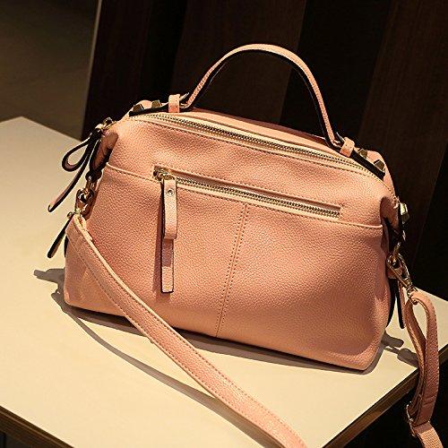 TSLX Frauen neue Leder Handtasche mit einer Schulter schräg Span Pink