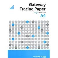 West 63/GSM Pad A4/50/Blatt natur Transparentpapier