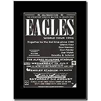 Eagles - World Tour 1996 UK Leg. Magazine Promo su un supporto, colore: nero
