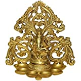 ARTSWAG Brass Ganesha Wall Hanging Diya | Ganesh Murti with 6 Diya | Gift | Home Decor