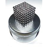 Unimag Neocube - Cubo de imanes de neodimio compuesto por 216 bolas magnéticas (en lata de metal)