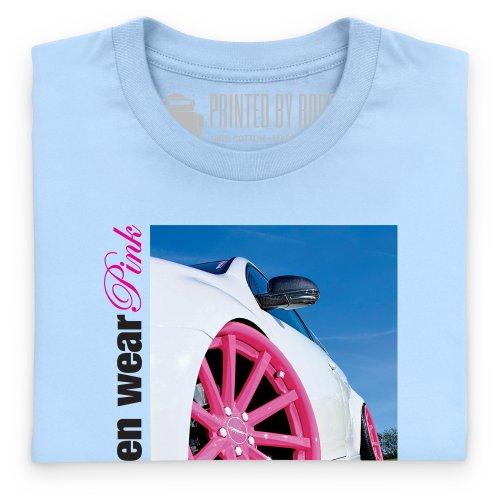 Real Men Wear Pink T-Shirt, Herren Himmelblau