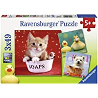 Ravensburger 09248 2 - Funny Animals, Puzzle 3x49 Pezzi