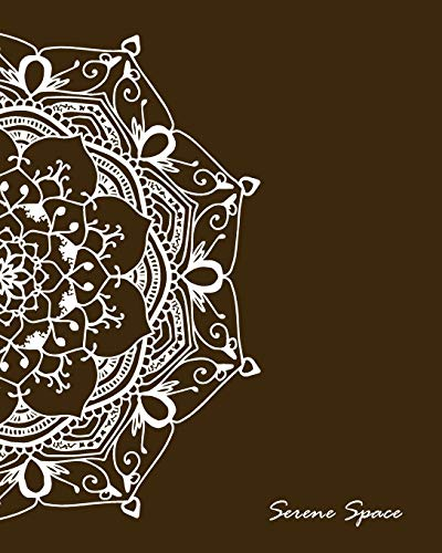 Serene Space: Brown Dot Grid Notebook Mandala Art Large, 150 Dotted Pages, Softcover (Dot Grid Journal Large, Band 8) - Serena Grid