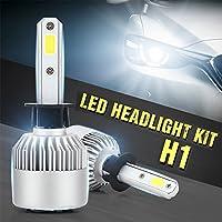 Zantec LED Portato Auto Fari Il Faro 40W 10000LM Faro da auto tutto in uno LED Fari Fendinebbia, bianco 6000K Lampada frontale 2PCS H1 Regalo Il Nuovo Anno