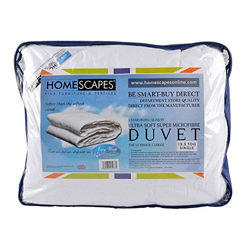 Homescapes supersofte Winter Bettdecke, 135 cm x 200 cm - Wärmeklasse 5, Microfaser Steppbett, Füllgewicht 1400g - Einzelbett Für Erwachsene Bettdecke