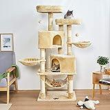 MSmask Kratzbaum Katzenbaum Katzenkratzbaum Aktivitätskratzbäume Kratzbäume Katzenmöbel mit Sisal-Seil Plüsch Liege höhlen Spielhaus für Katze Hängematte Liegebetten LiegemuldenSpielzeug für Katzen