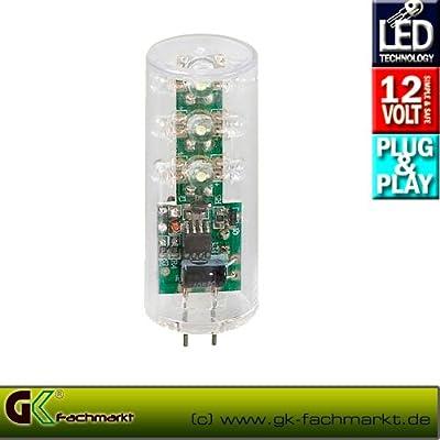 LED-Zylinder GU5.3, 12V 2W, 18x warm weiß von Techmar - Lampenhans.de