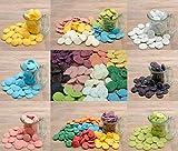 yagma Candy Melts Starterset - Farbexplosion (rot, orange, gelb, dunkelgrün, blau, violett, schwarz, weiß/mit farbigen Punkten, hellgrün, pink, braun)