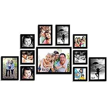 Painting Mantra Memory Wall Photo Frame Set (27 inch x 44 inch, Black, Set of 11)