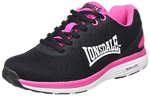 Lonsdale Lisala, Scarpe Sportive Outdoor Donna Nero (Black/fuchsia/white)