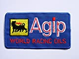 Patch - Agip World Racing Oils - blau - Motorsport - Ralley - Auto - Rennsport - Motorbike - Motorrad - Patches - Aufnäher Embleme Bügelbild Aufbügler