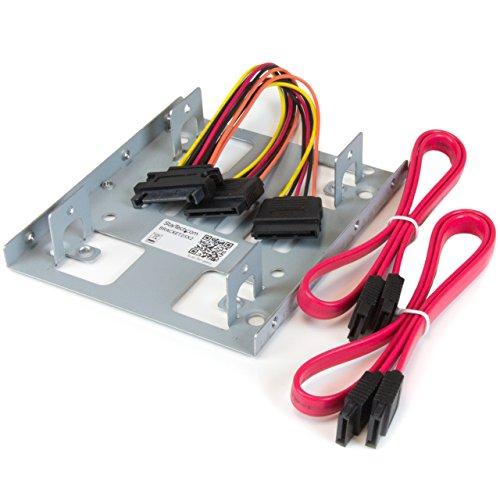 """StarTech.com Dual 2,5\"""" SATA Festplatten auf 3,5\"""" Einbauschacht Halterung -  2-fach HDD/SSD Halterung mit SATA Strom- und Datenkabel"""