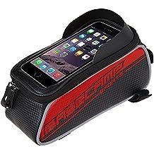 Basecamp Borsa /custodia touch screen bicicletta Ciclismo anteriore per bicicletta telaio in tubo superiore sacchetto in PVC trasparente per 5 iphone 6s plus / iphone 6 plus / iphone 6s / iphone 6, 5S / 5 / 5C / 4S / 4, Samsung Galaxy s6 edge/ s6 edge+/S4 / S3