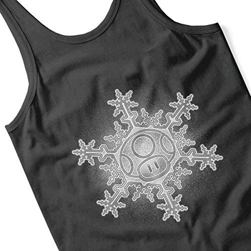 Mushroom Snowflake Super Mario Women's Vest Black