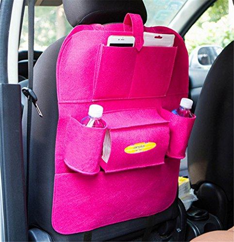 Preisvergleich Produktbild Back Seat Car Organizer, Silence Shopping Multi-Pocket Travel Lagerung Auto Sitz Rücken Tasche (Rose Rot)