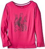 s.Oliver Mädchen Langarmshirt Single Jersey, mit Print, Gr. 92 (Herstellergröße: 92/98), Rot (Red 4554)