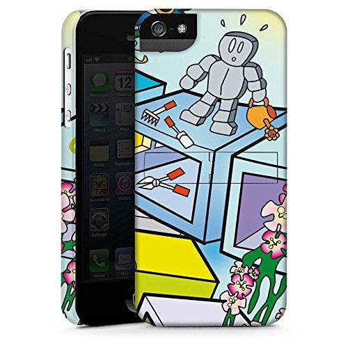 Apple iPhone X Silikon Hülle Case Schutzhülle Comic Roboter Würfel Premium Case StandUp