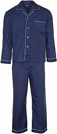 Mens Out Size Pyjama Set Size 4XL Nightwear Pyjama Woven Polyester/Cotton …