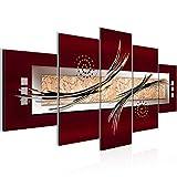 Bilder Abstrakt Wandbild Vlies - Leinwand Bild XXL Format Wandbilder Wohnzimmer Wohnung Deko Kunstdrucke Braun 5 Teilig -100% MADE IN GERMANY - Fertig zum Aufhängen 103952a