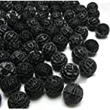 Colourfulshop 50 Nos Bio Ball with Sponge Inside - Bacteria Creator for All Fish Tank (Black)