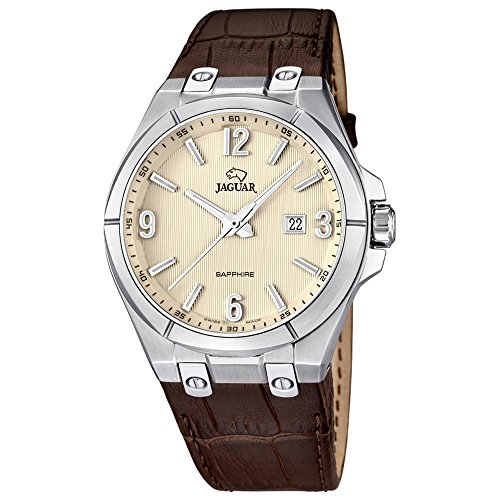 Jaguar j666/1 - Reloj de caballero, caja acero, cristal safiro, correa en piel