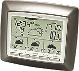Technoline WD 4008 satellitengestützte Wetterstation unter Anderem mit Innen/Außentemperaturanzeige, Wettervorhersage für 4 Tage, braun, 15 x 3,4 x 12,9 cm