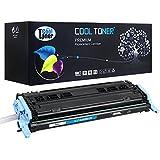 Cool Toner Compatible Q6001A Cartucho de Toner Compatible para HP Color LaserJet 2600N 1600 2605N 2605DN 2605DTN CM1015 MFP CM1017 MFP, Cian